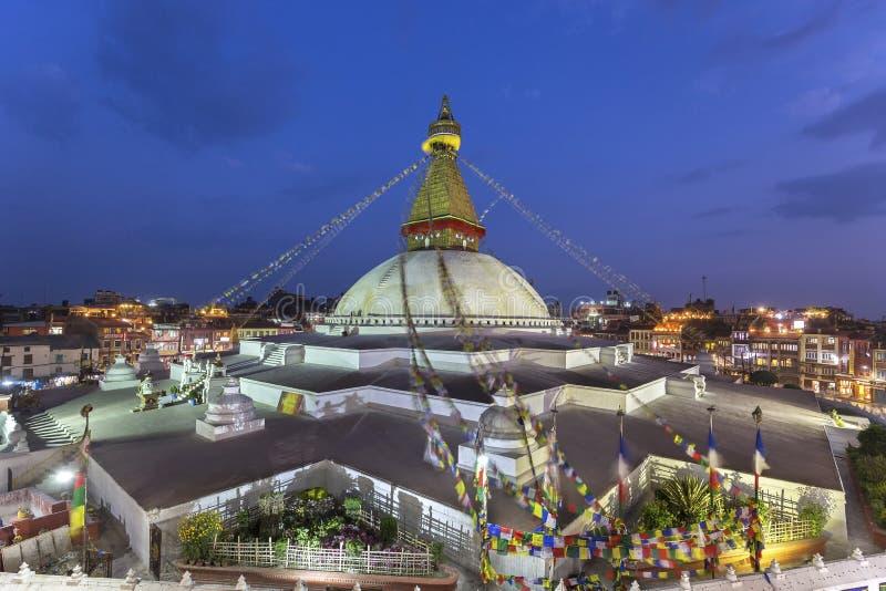 Boudhanath stupa i Kathmandu, Nepal arkivfoto