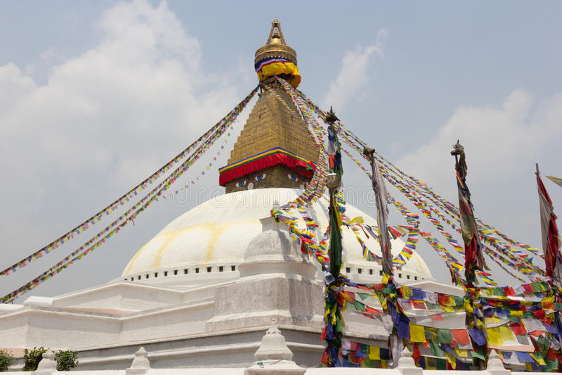 Boudhanath stupa i Katmandu, Nepal royaltyfri fotografi