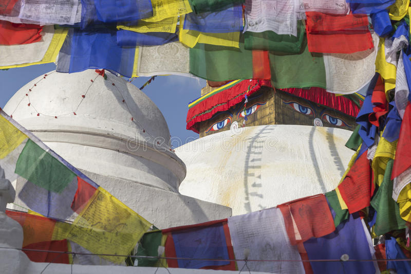 Boudhanath Stupa in Kathmandu, Nepal. Boudhanath Stupa located in Kathmandu, Nepal. It aslo the world heritage site of UNESCO. This photo was shot 2 weeks before royalty free stock images
