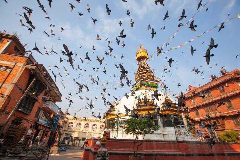 Boudhanath Stupa in the Kathmandu valley royalty free stock photos