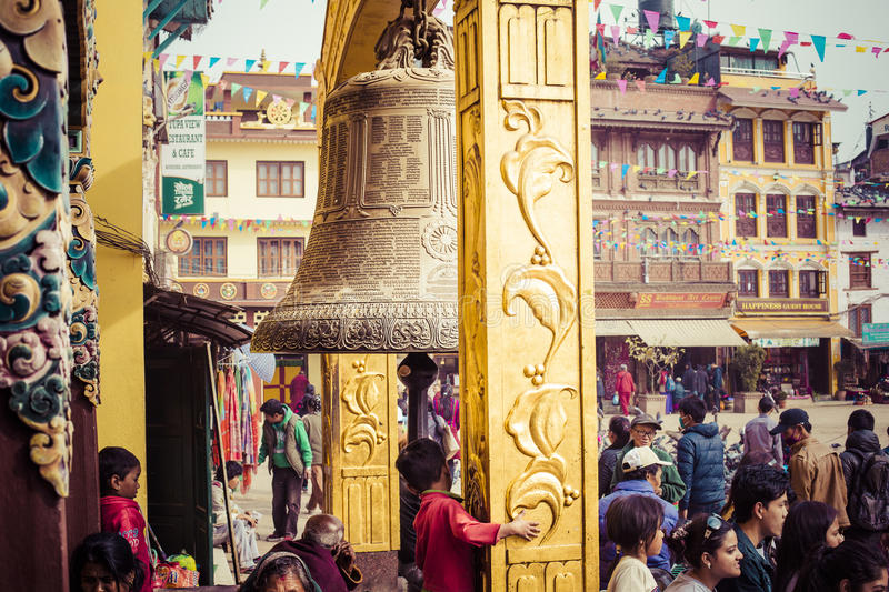 Boudhanath Stupa in the Kathmandu valley, Nepal stock images