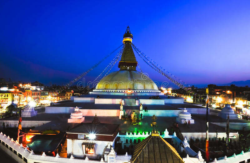 Boudhanath Stupa in Nepal stockbild