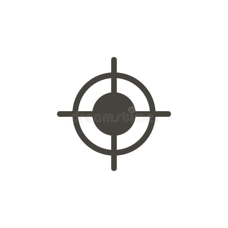 Boudine, icône de vecteur de cible IllustrationBullseye simple d'élément, icône de vecteur de cible Illustration mat?rielle de ve illustration stock