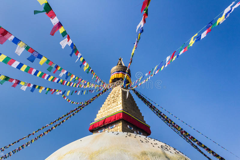 Boudnath stupa royalty free stock image