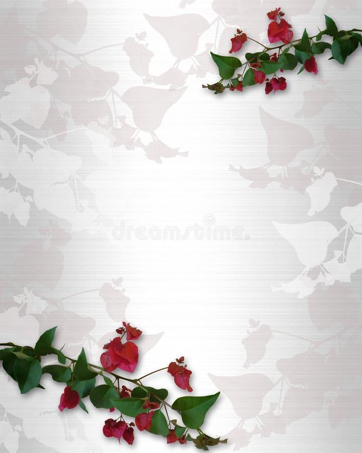 Bougainvillea tropicale dei fiori illustrazione vettoriale