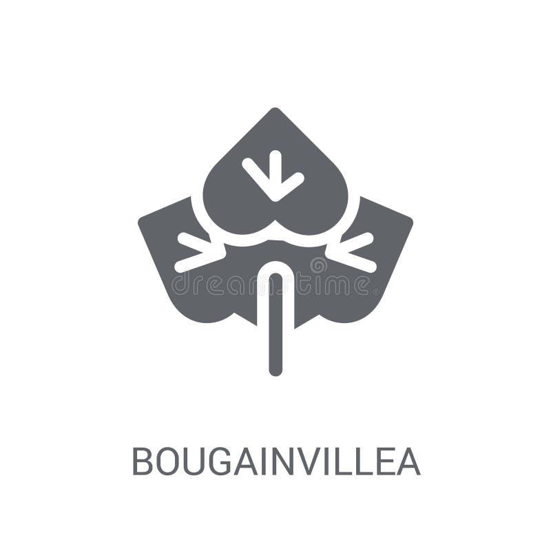 Bougainvilleapictogram Het in concept van het Bougainvilleaembleem op witte B vector illustratie