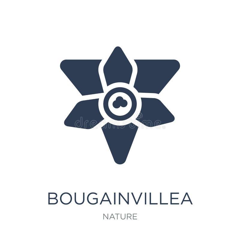 Bougainvilleapictogram In vlak vectorbougainvilleapictogram op whi royalty-vrije illustratie
