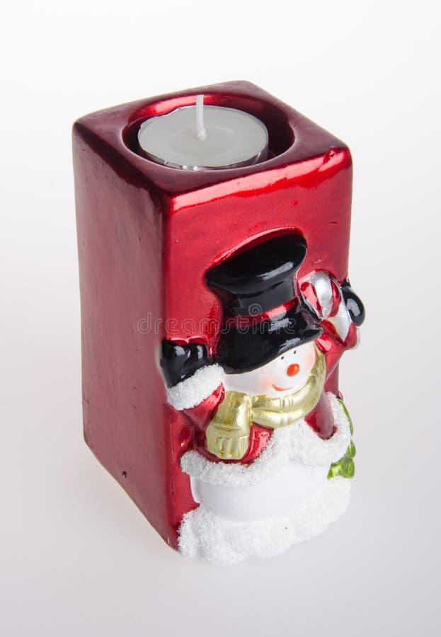 Bougeoir de Noël sur le fond photo stock