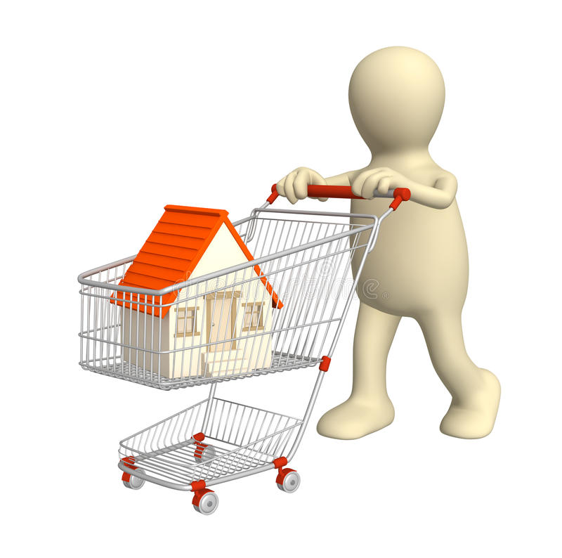 Download Bought the house stock illustration. Image of carrying - 11618432