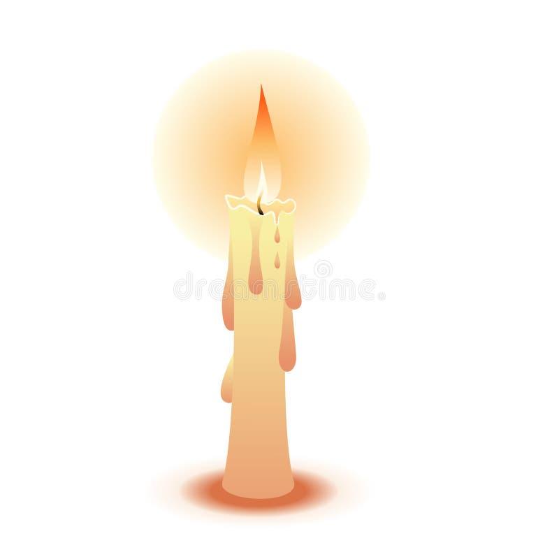 Download Bougie illustration de vecteur. Illustration du orange - 8653462