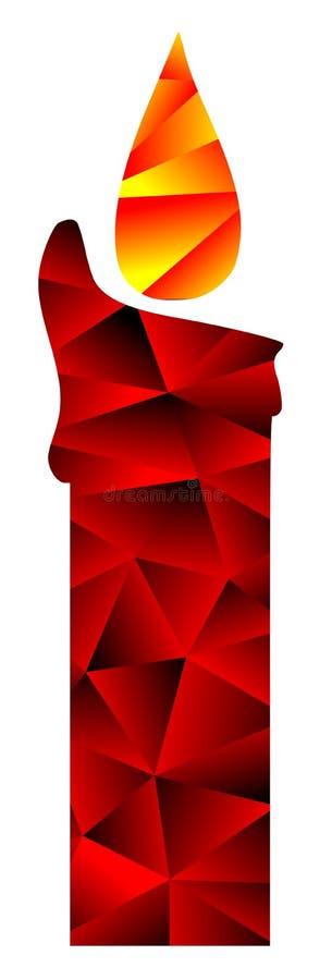 Bougie colorée de mosaïque d'isolement illustration de vecteur
