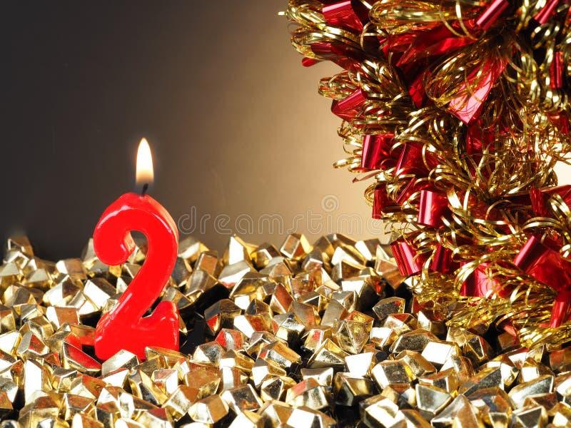bougie d'Anniversaire-anniversaire montrant Nr 2 photographie stock