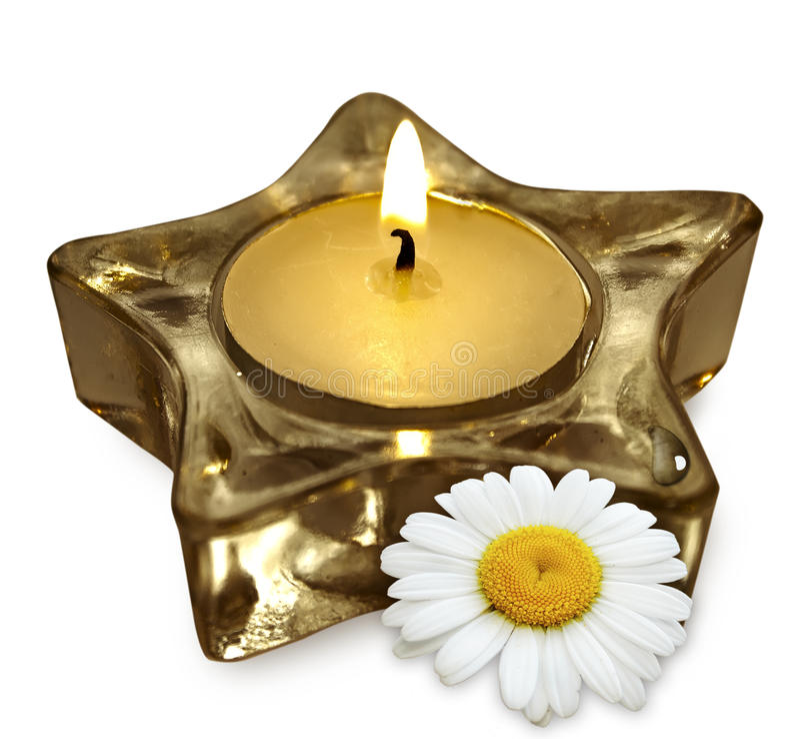 Bougie d'aromathérapie photo libre de droits