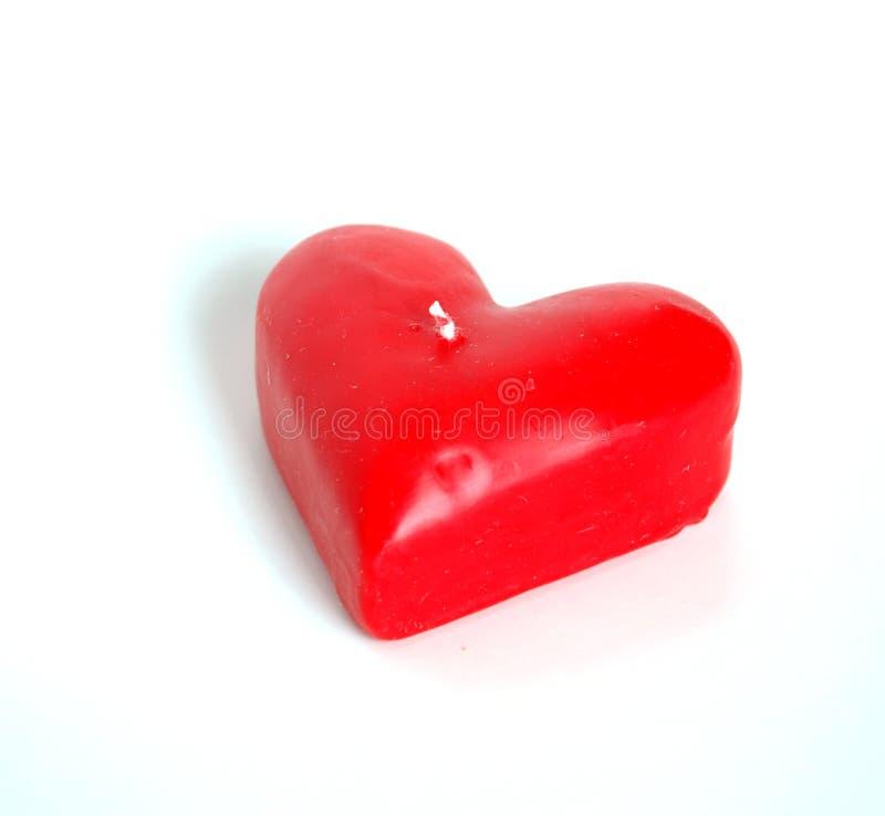Bougie de coeur (d'isolement) image stock