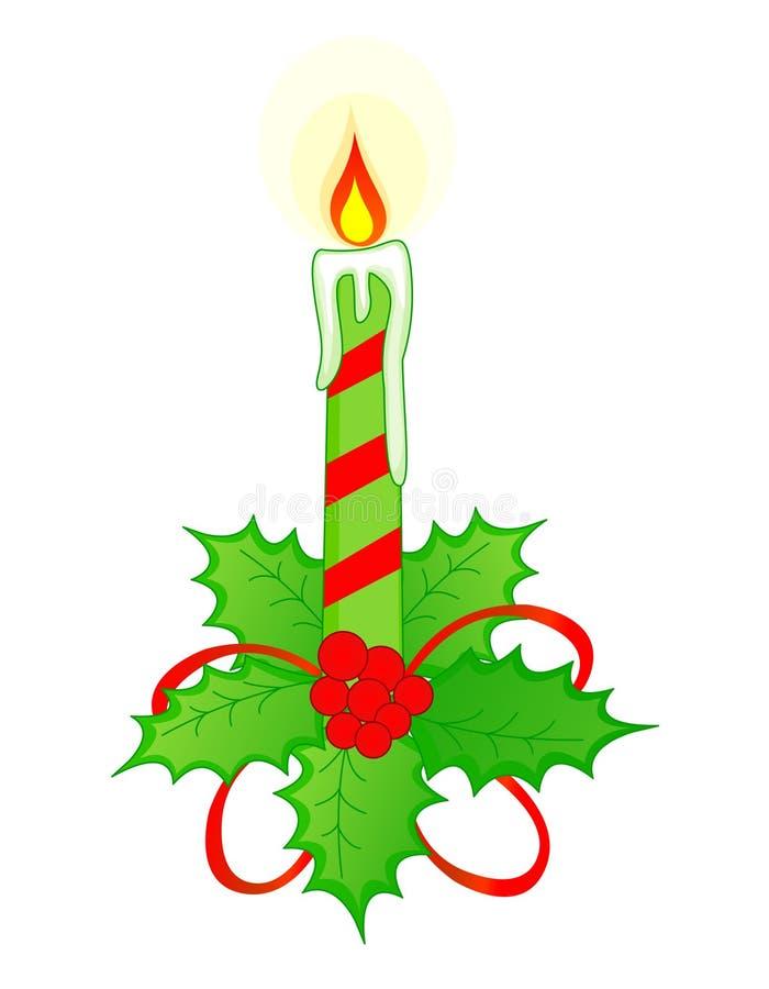 Bougie de Noël illustration de vecteur