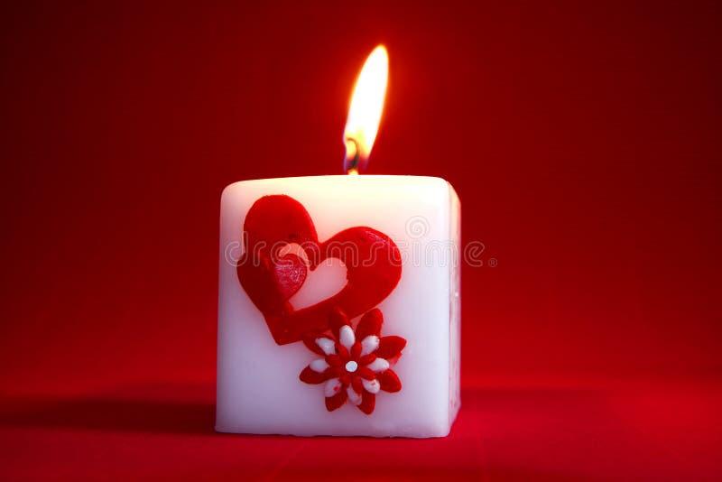 Bougie de Valentine photos libres de droits