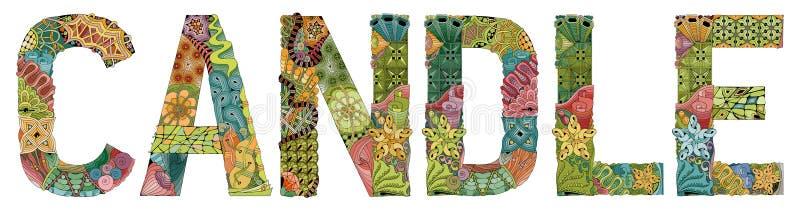Bougie De Zentangle Illustration De Vecteur Illustration Du Seul 53619490