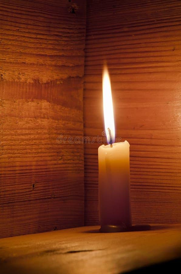 Bougie, flamme, bois photos libres de droits