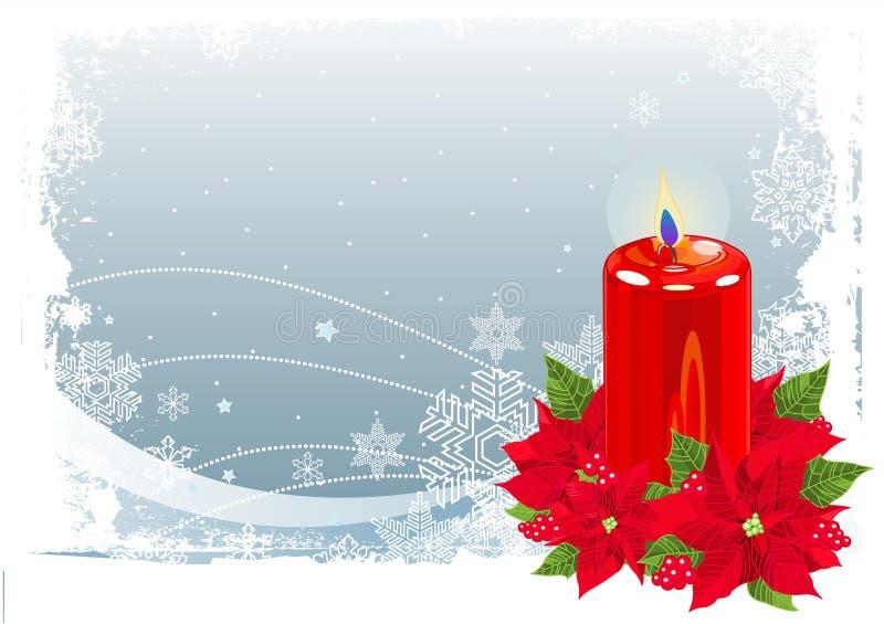 Bougie rouge de Noël illustration stock