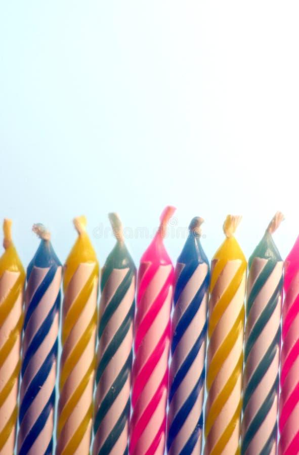 Bougies 2 d'anniversaire photo stock