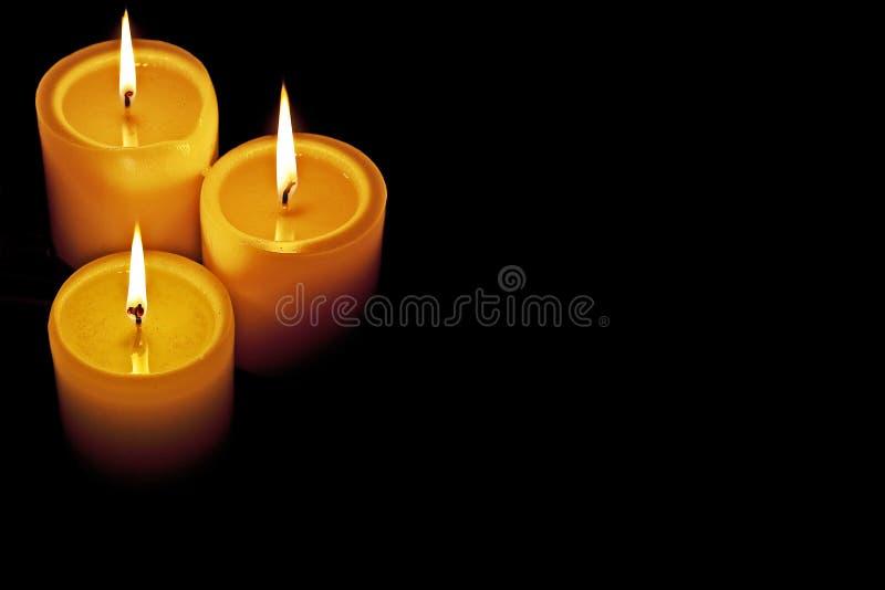 Bougies allumées photos libres de droits