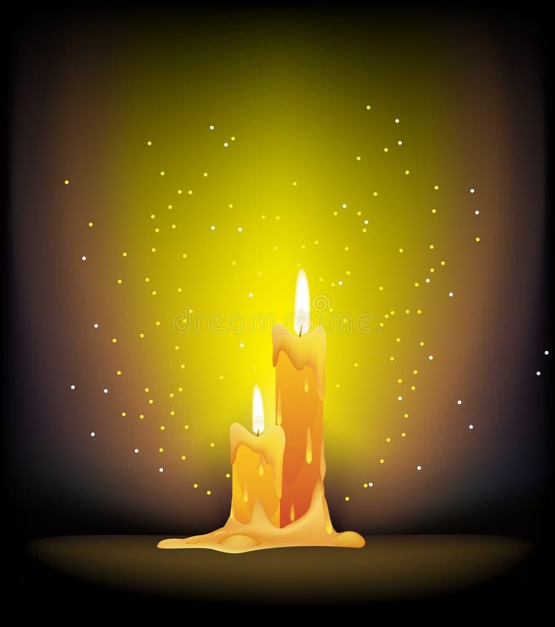 Bougies brûlantes illustration libre de droits