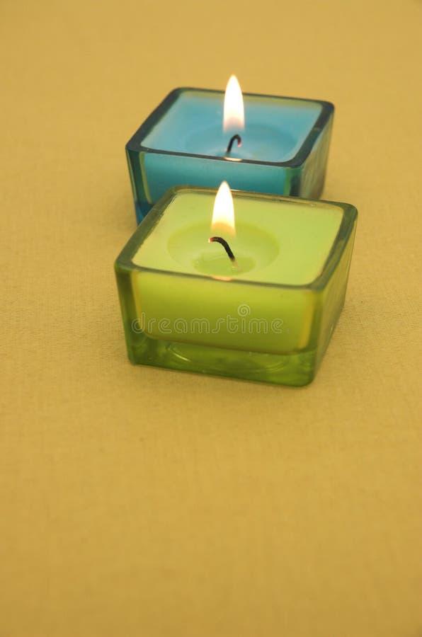 Bougies colorées images stock