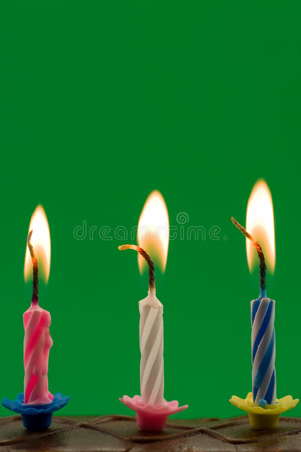 bougies d'anniversaire image stock