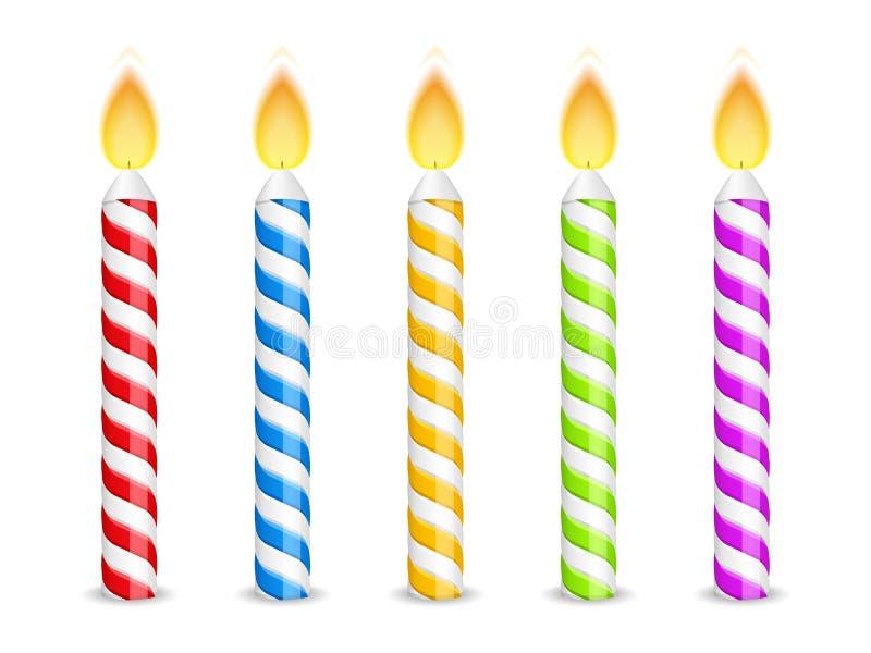 Bougies d'anniversaire illustration de vecteur