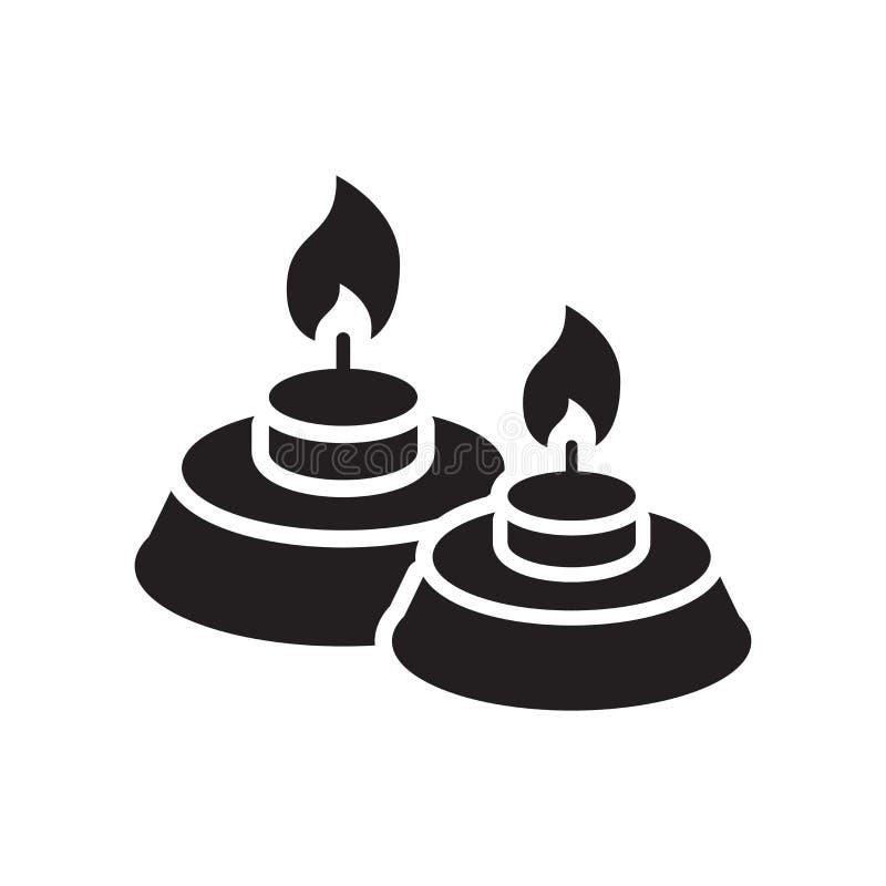 Bougies d'icône de signe et symbole de vecteur d'isolement sur le fond blanc illustration libre de droits