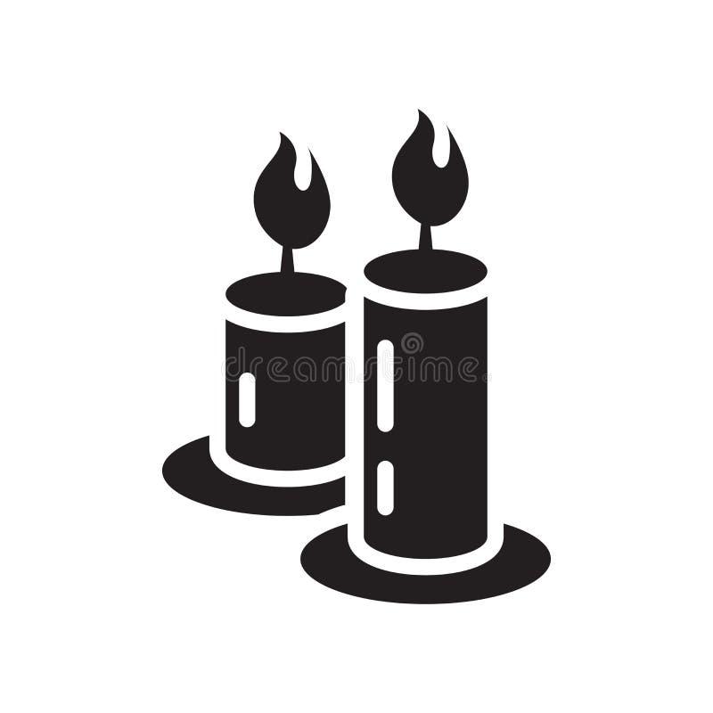 Bougies d'icône de signe et symbole de vecteur d'isolement sur le fond blanc illustration stock