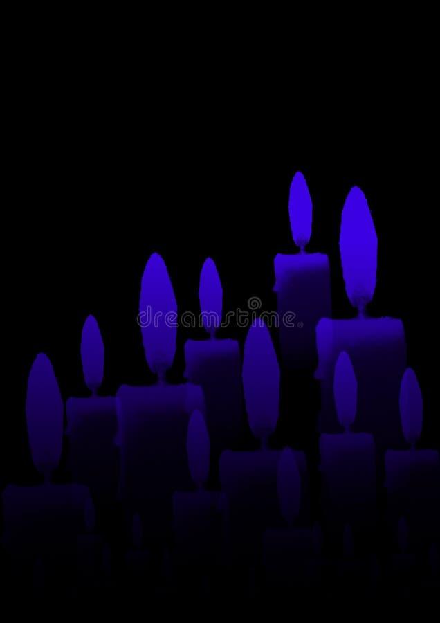 Bougies dans l'obscurité images libres de droits