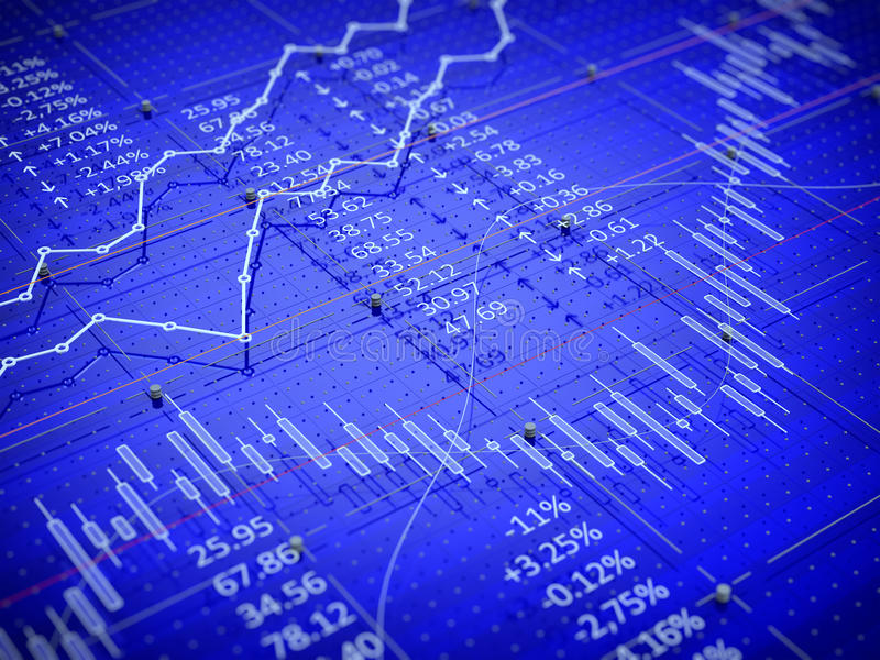 Bougies de barre de diagramme du commerce de bourse des valeurs  illustration stock