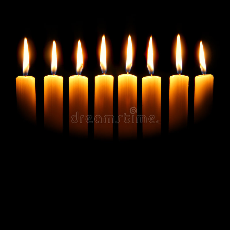Bougies de Channukah image stock