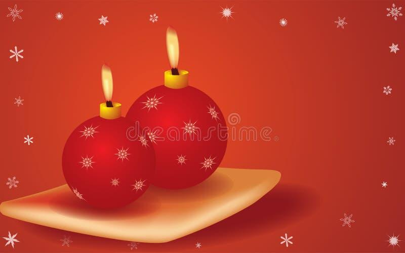 Bougies de cristmas de vecteur images stock