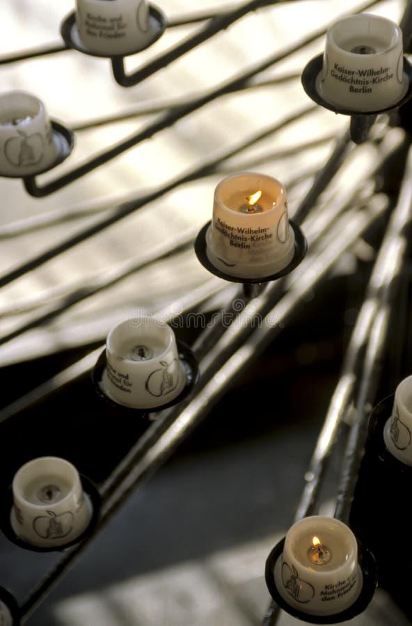 Bougies de dévotion d'Allemagne photo libre de droits