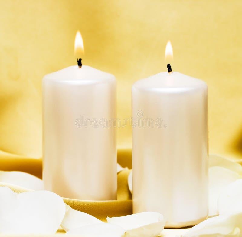 bougies de fleur photos libres de droits