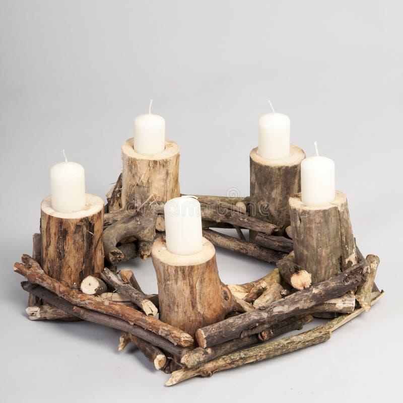 bougies de guirlande de Noël photos libres de droits
