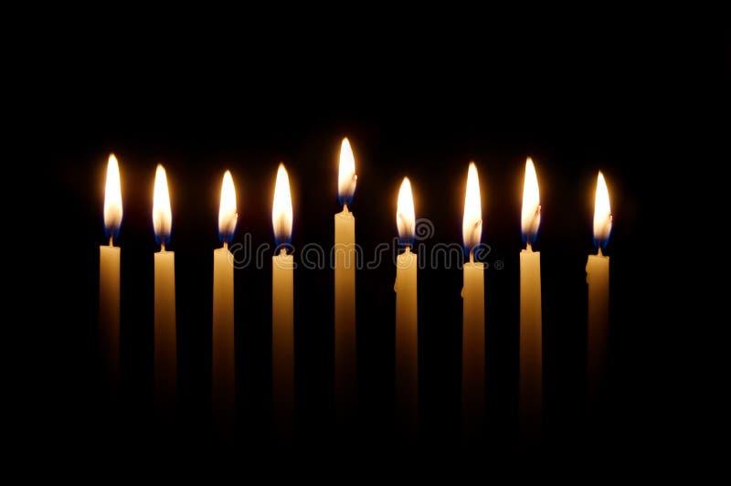 Bougies de Hanukkah image libre de droits