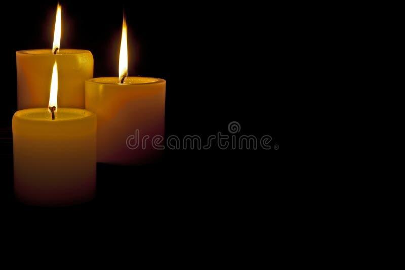 Bougies de Lit images libres de droits