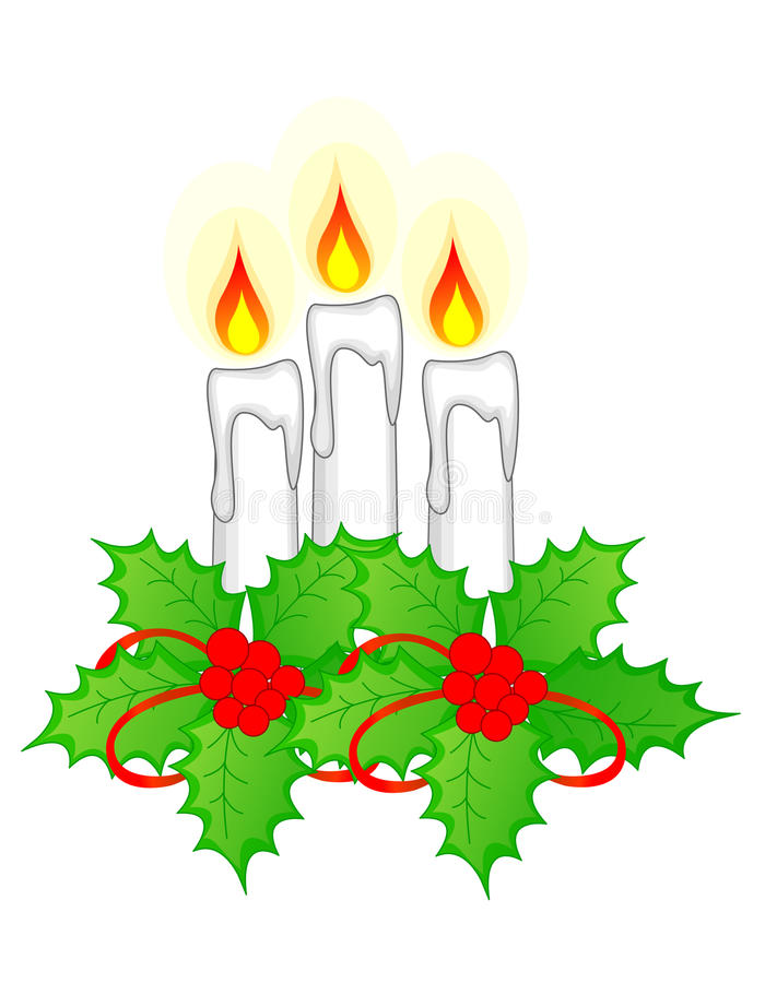 Bougies de Noël illustration stock