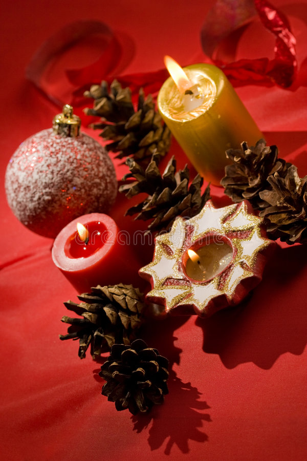 Bougies de Noël photos stock