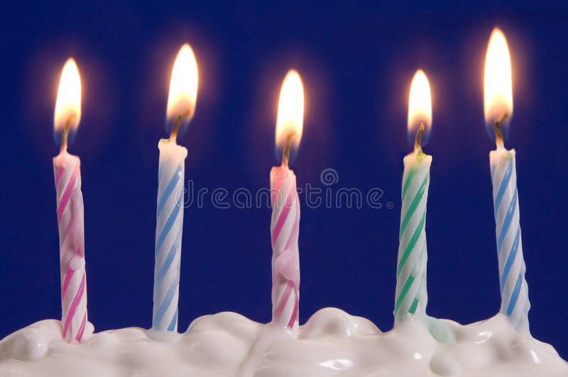 Bougies en gâteau photographie stock