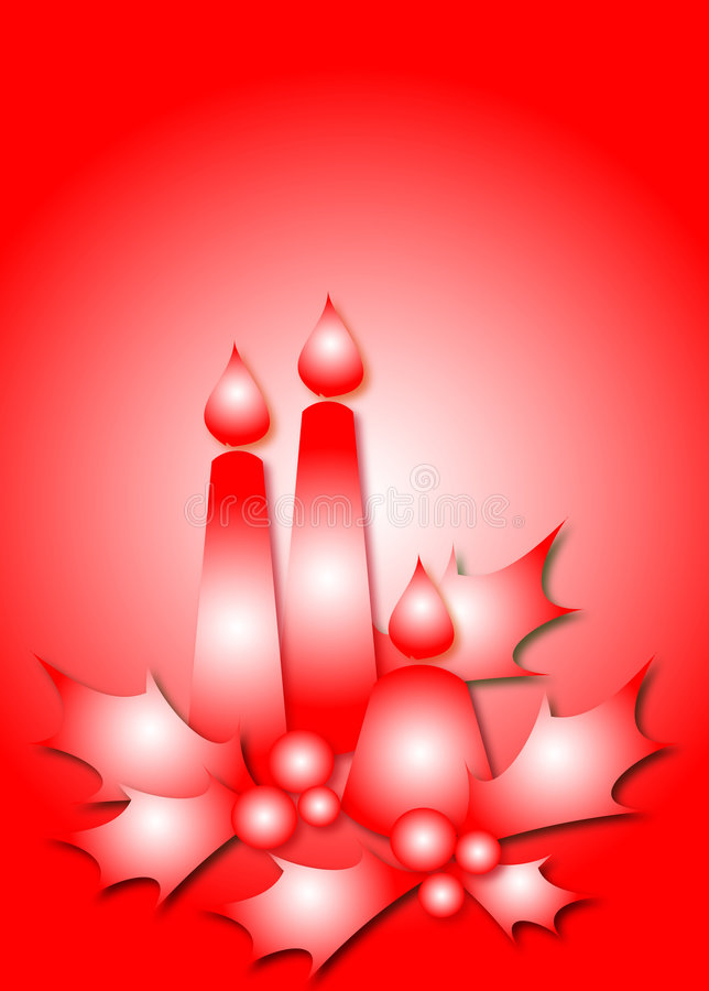 Bougies rouges illustration stock
