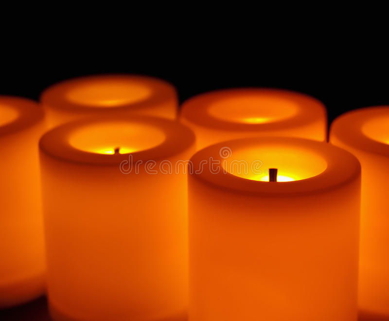 Bougies sans flammes photo stock