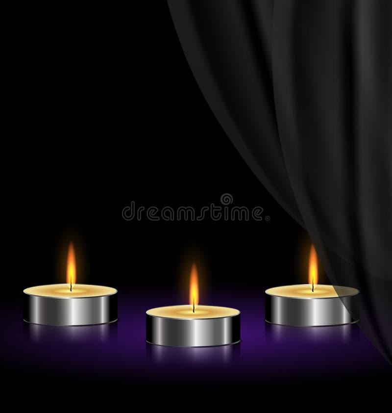 bougies tristes illustration de vecteur