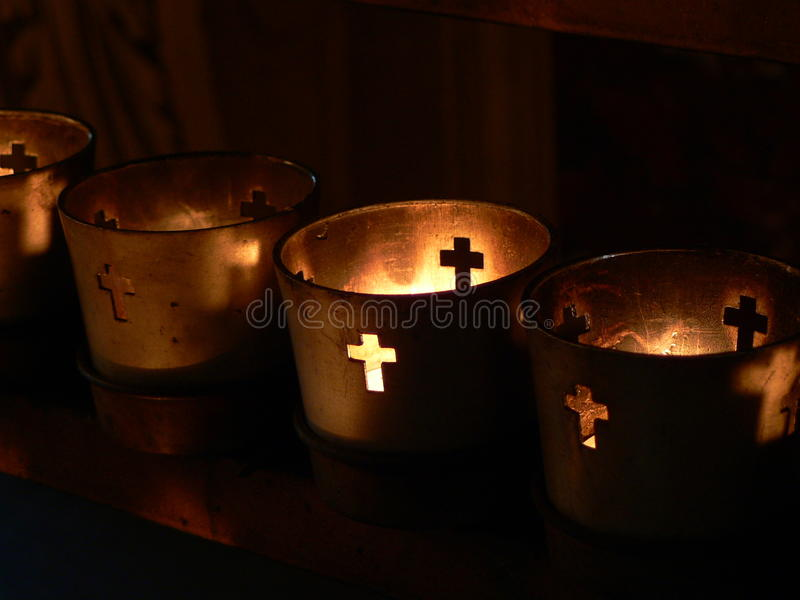 Bougies votives photo stock