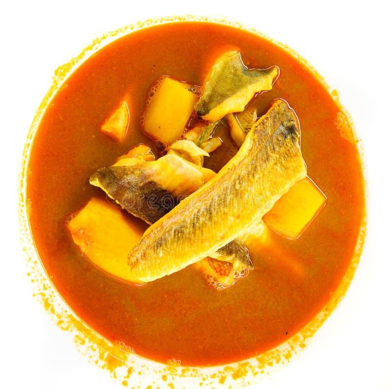 Bouillabaisse, традиционный суп рыб от Марсел стоковые фотографии rf