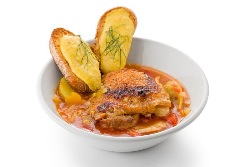 bouillabaisse kurczak zdjęcia stock