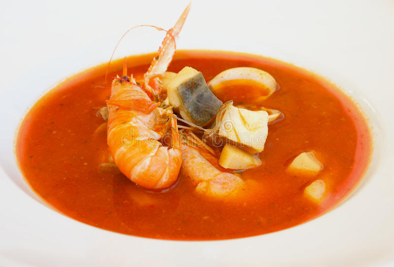 Bouillabaisse Soup royalty free stock images